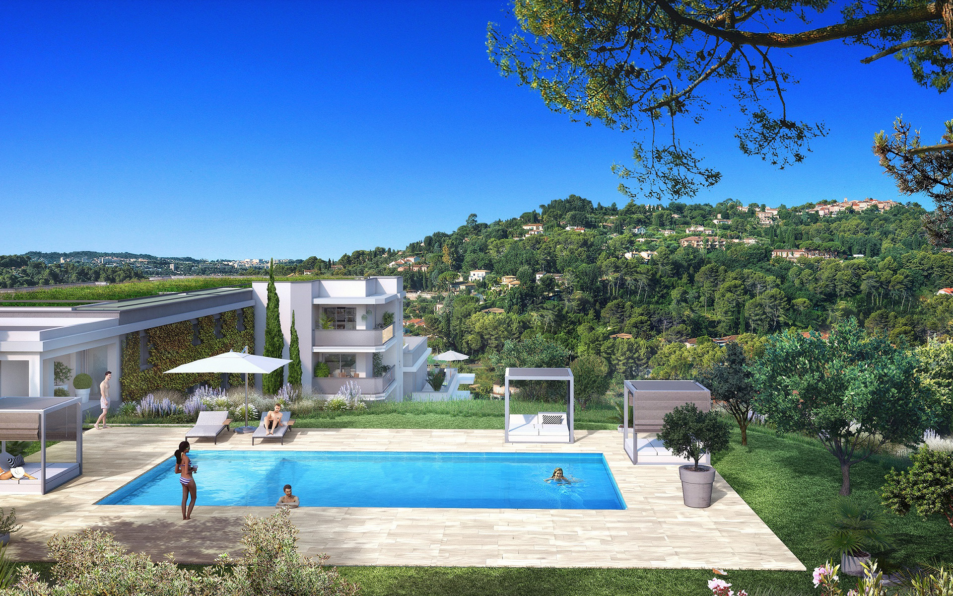 Villa neuve Côte d'Azur - Stone & Living