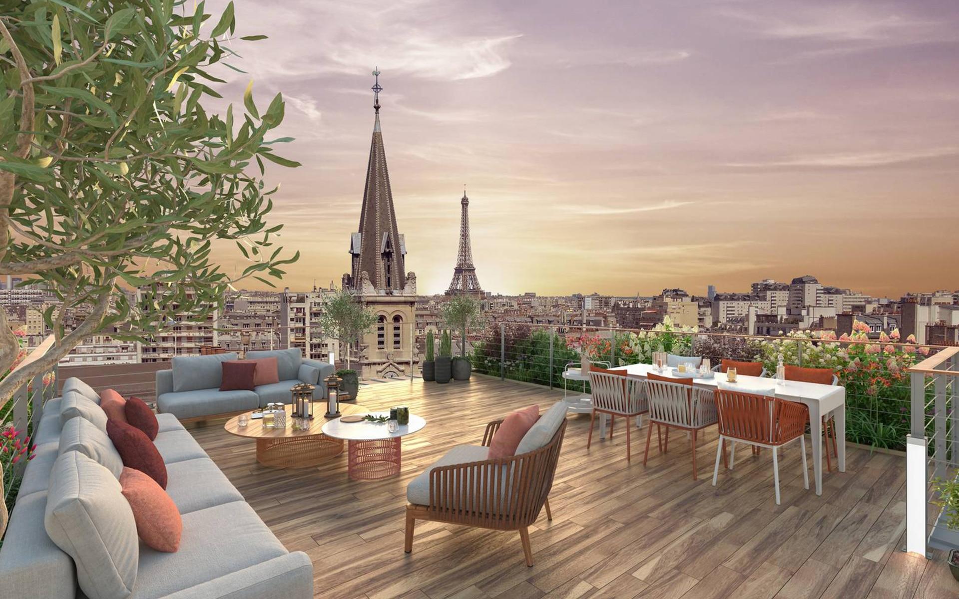Appartement déficit foncier Paris Bellevue l Stone & Living