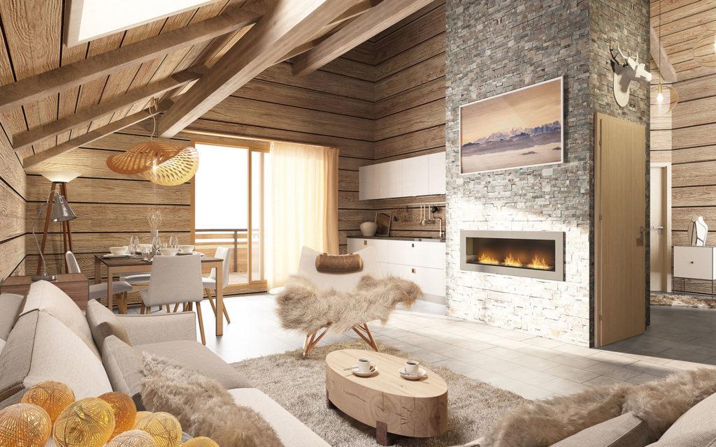 Appartement neuf domaine Valmeinier ski Alpes l Stone & Living