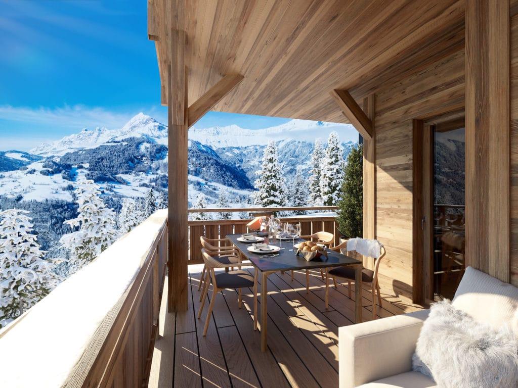 new ski development in Crest Voland l stone and living