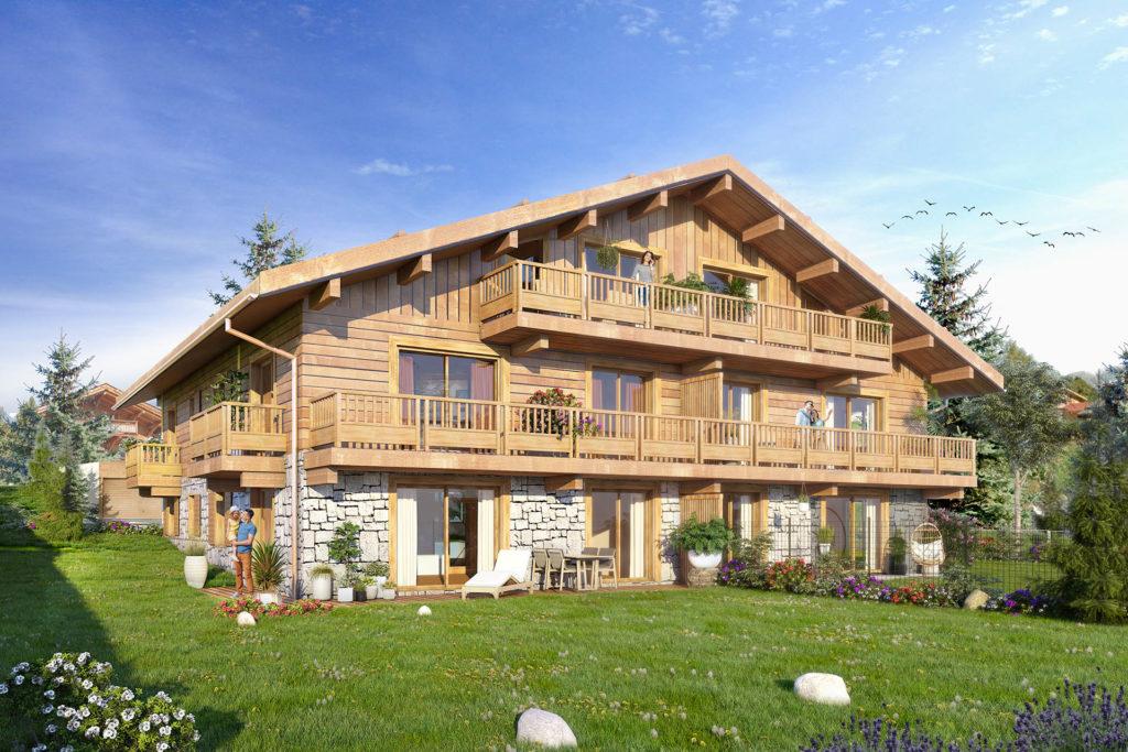 5 new apartments Chalet de Margot Combloux l stone and living