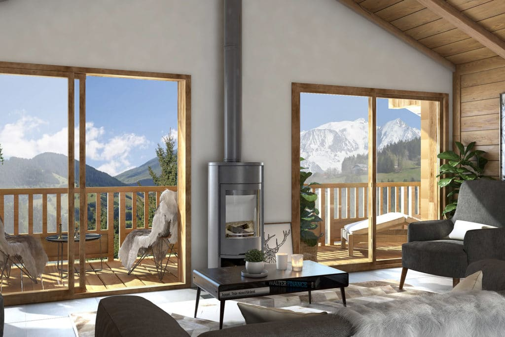 Appartements neuf Combloux avec vue Mont Blanc l Stone and Living