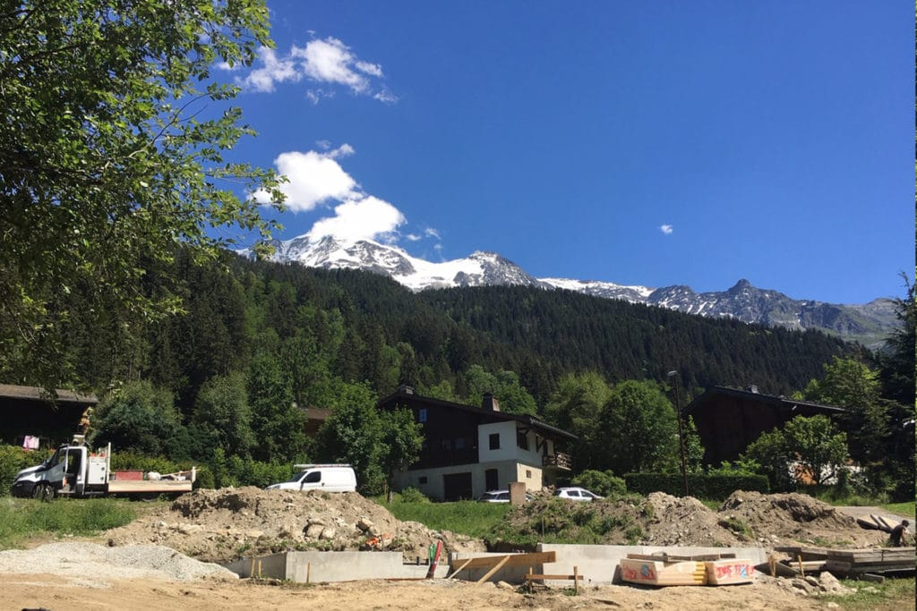 Chalet neuf Contamines-Montjoie l Stone & Living