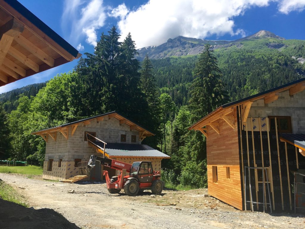 Chalet neuf les Contamines-Montjoie l stone and living